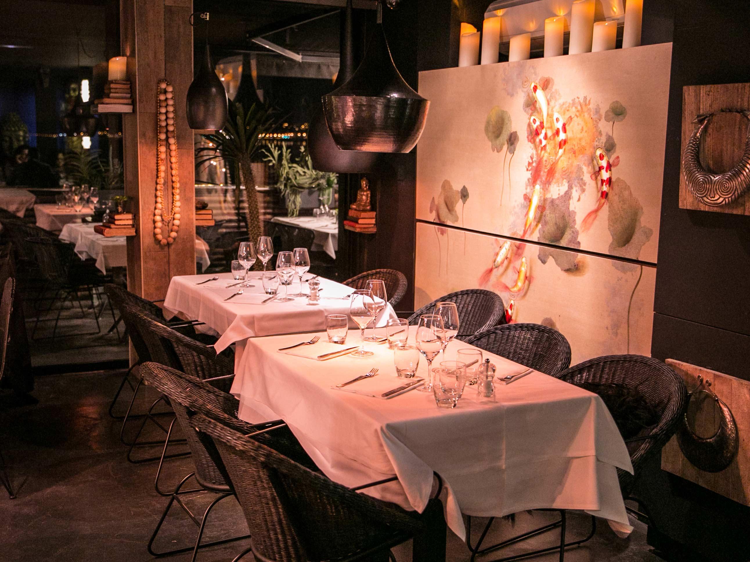 Restaurant ambiance asiatique chic